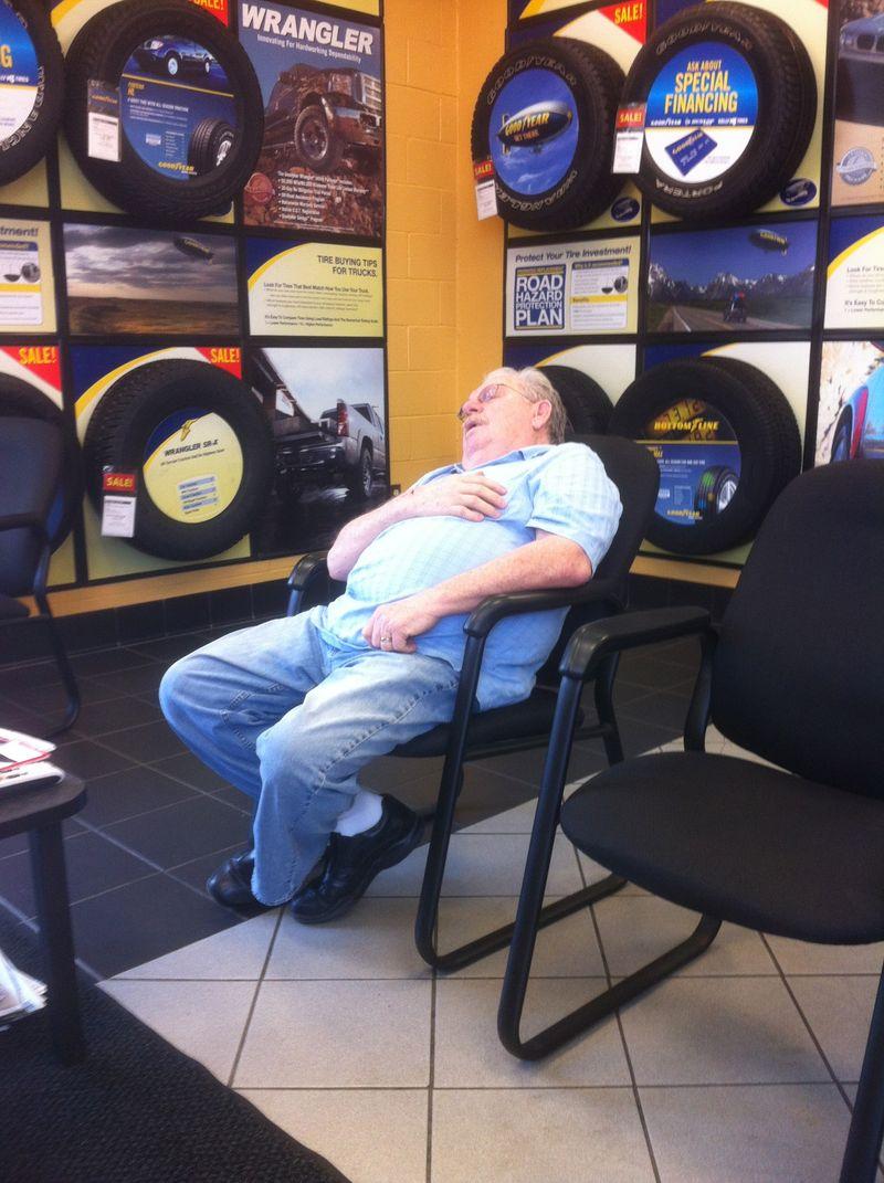 Sleeping at Goodyear