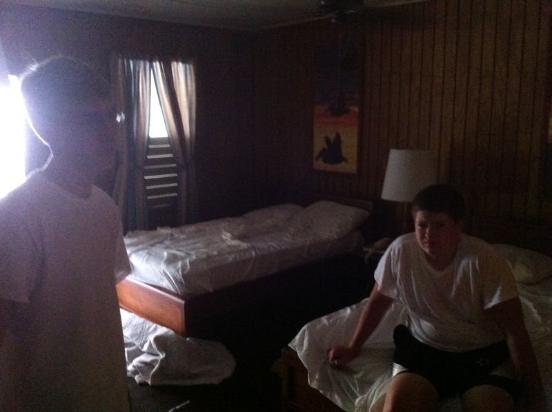 Aaron and Andrew in room early morn