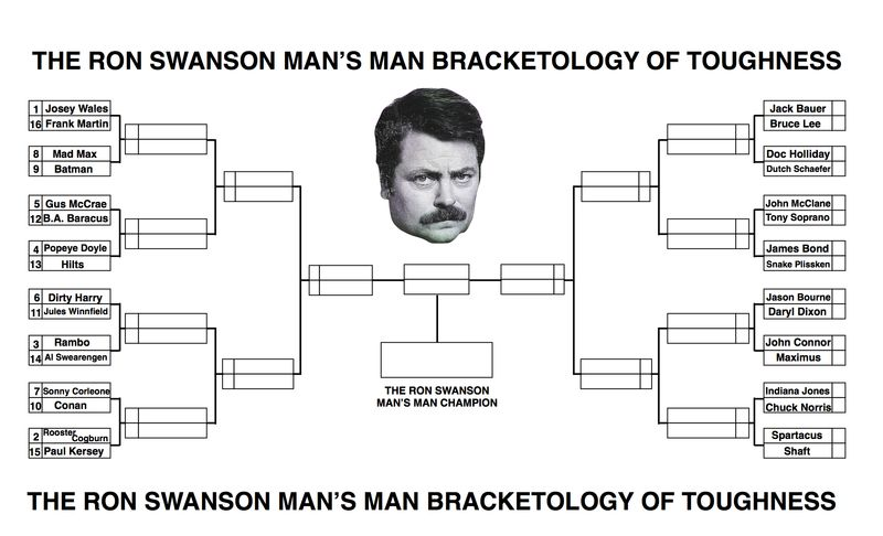 Ron Swanson Man's Man Bracket