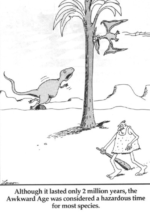 Dinosaurs far side awkward age.019