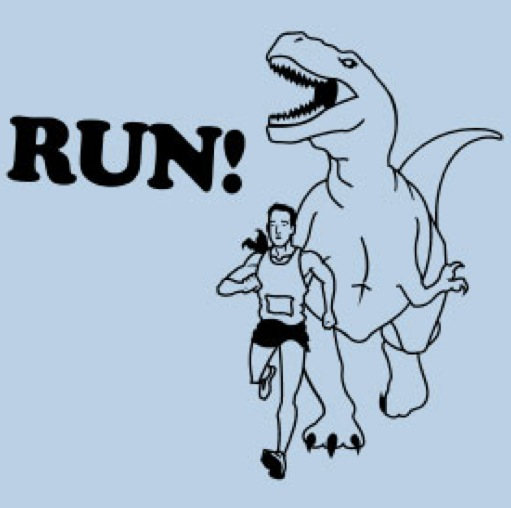 Dinosaurs run t-rex.029