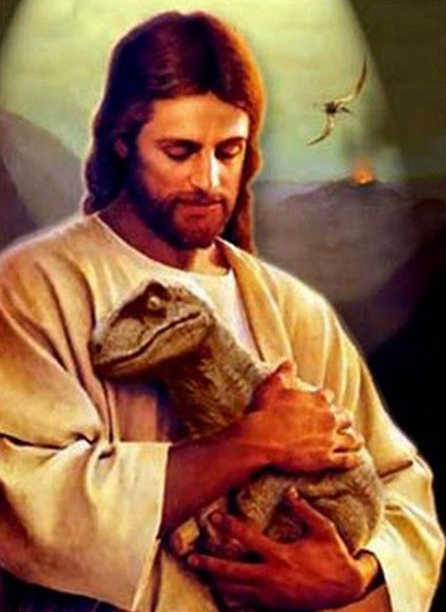 Dinosaurs Jesus and raptor.021